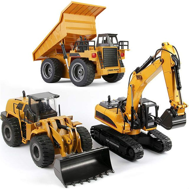 Big-Daddy Toy Work Trucks Series Full Functional Tractor Loading Shovel Xmas
