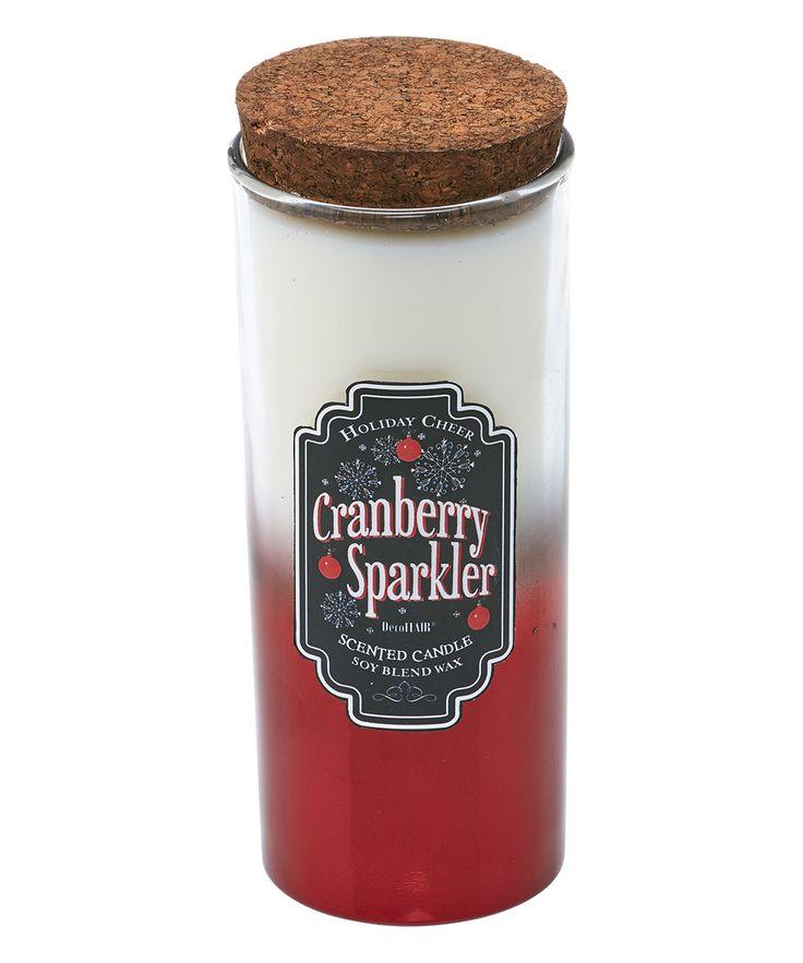 Cranberry Sparkler Candle