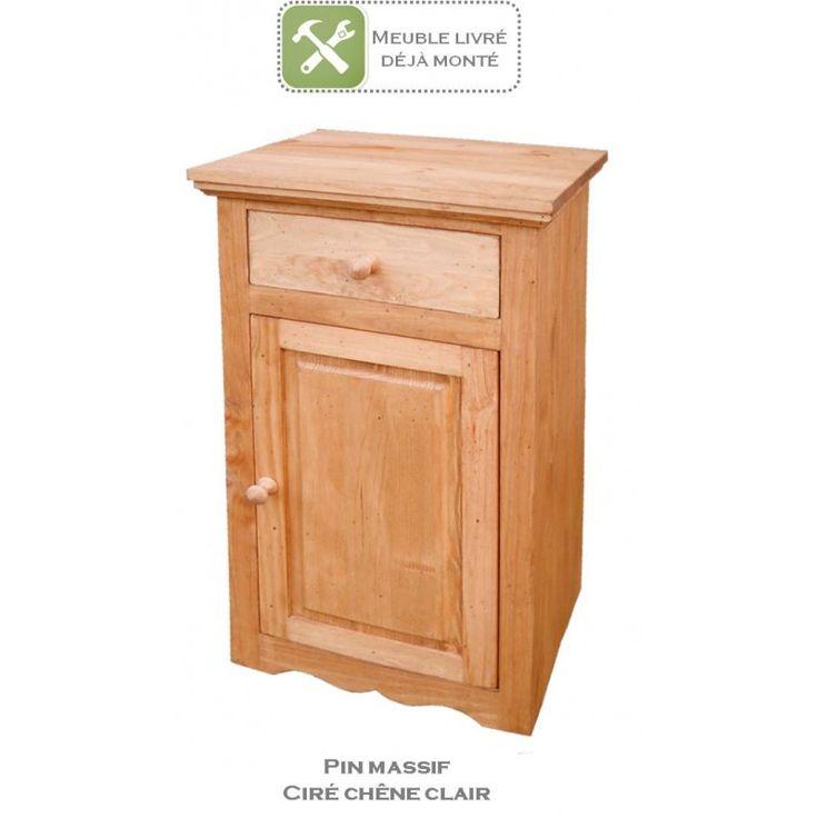 Confiturier en pin massif au style authentique et indémodable. Pratique et passe partout. 1 tiroir, 1 porte avec tablette. Idéal cuisine