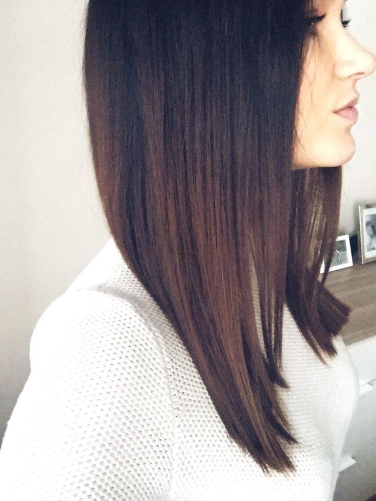 Chocolate hair medium length