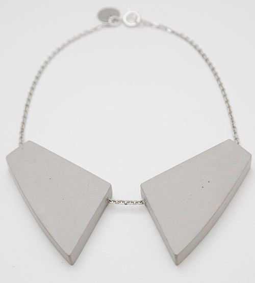 Bergner Schmidt's concrete jewelry is both architectural and sculptural.