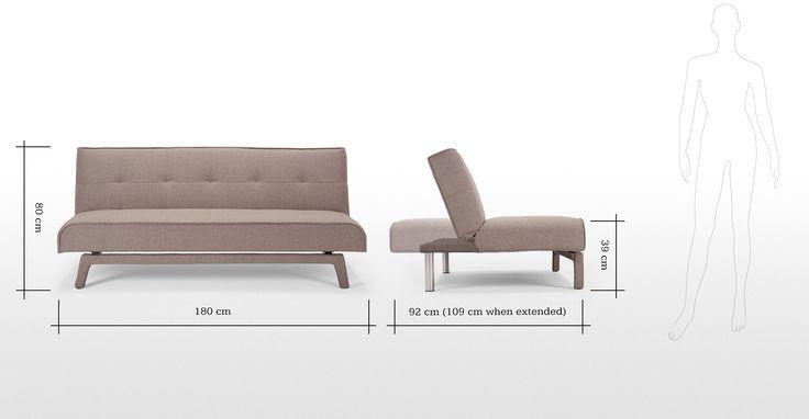 Yoko Sofa bed in tawny brown | made.com