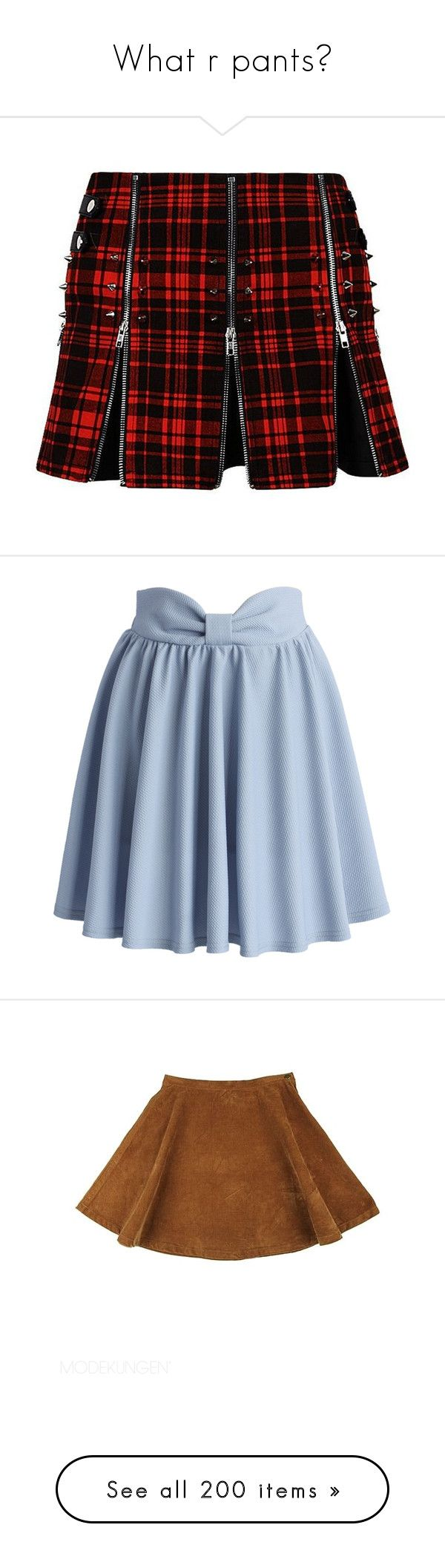 """""""What r pants?"""" by ugly-boi ❤ liked on Polyvore featuring skirts, mini skirts, bottoms, short plaid skirt, gothic skirts, plaid miniskirts, plaid mini skirt, plaid skirt, saias and blue"""