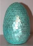 Aqua Sequined Egg  $29.50  www.hungouttobuy.com