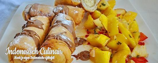 Loempia Pisang dan Salad Mangga   Indonesisch-Culinair.nl