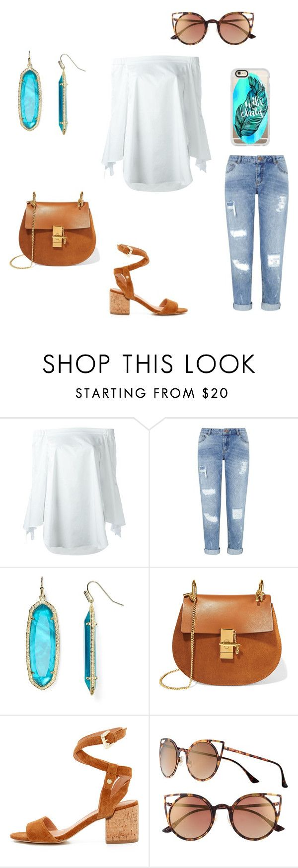 """""""Wild Child"""" by fashionablylateky ❤ liked on Polyvore featuring TIBI, Miss Selfridge, Kendra Scott, Chloé, Sigerson Morrison, SO and Casetify"""