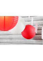 1 Lanterne ROUGE 50 cm