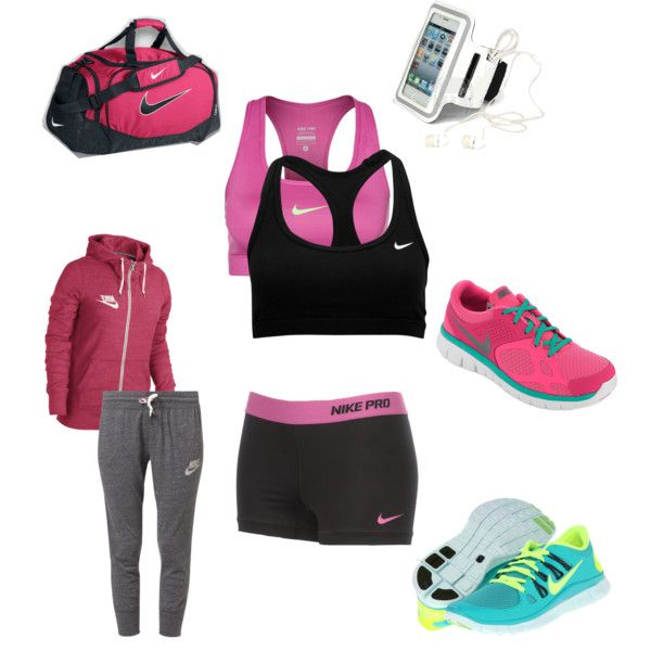 """""""Gym Freak"""" by maeve-jarret on Polyvore,i want green and volt nike free 5.0, cheap website for nikes 54% off       #cheap #nike #free"""