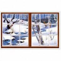 Winter Snow Window Insta View One Piece Pkt2 $18.95