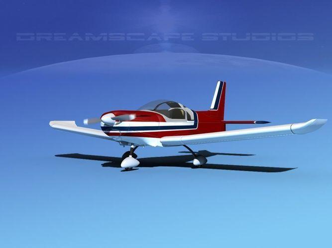 zlin z 242 v07 3d model max obj 3ds lwo lw lws dxf dwg 1