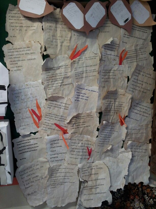 Great Fire of London writing