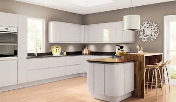 Pronto Light Grey Gloss Kitchen - By BA Components