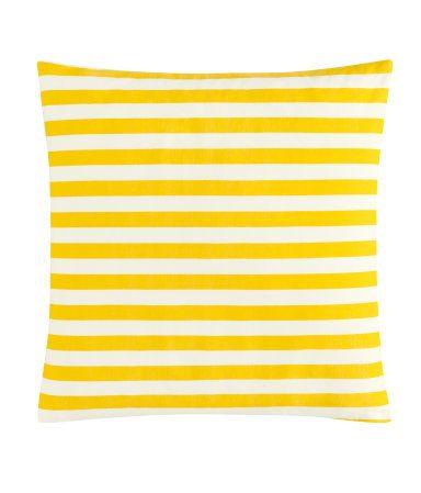 yellow stripe pillows