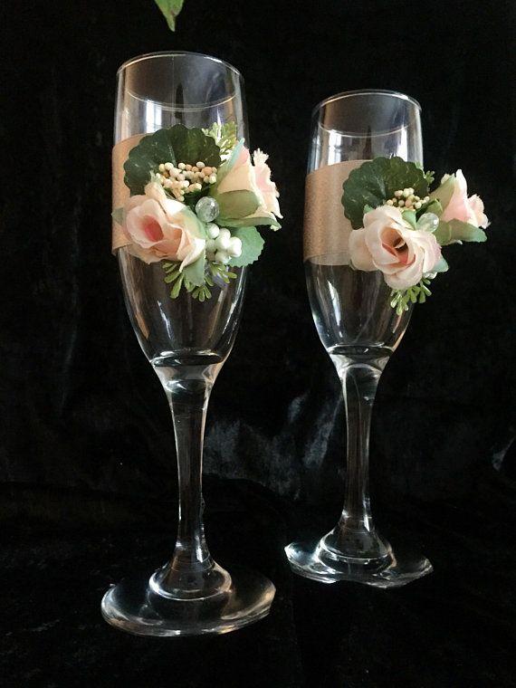 Wedding Toasting Flutes Champagne Glasses Wedding Gift