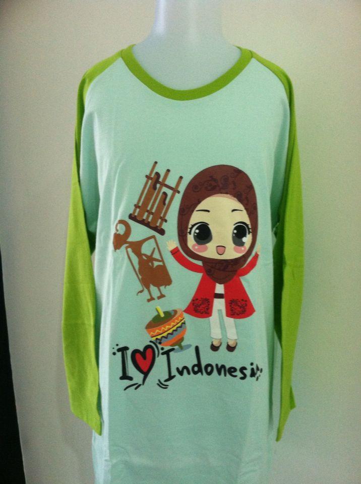 I Love Indonesia Hijau