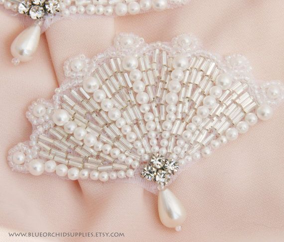Crystal Applique Rhinestone Applique Beaded by BlueOrchidSupplies, $4.85
