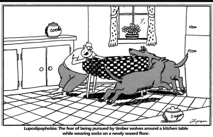 far side cartoon cartoons phobias wolf comic wolves frogs larson gary humour fictional fun bad humorous