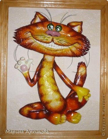 Картина панно рисунок Новый год Лепка Приветик - улыбнитесь Тесто соленое фото 1