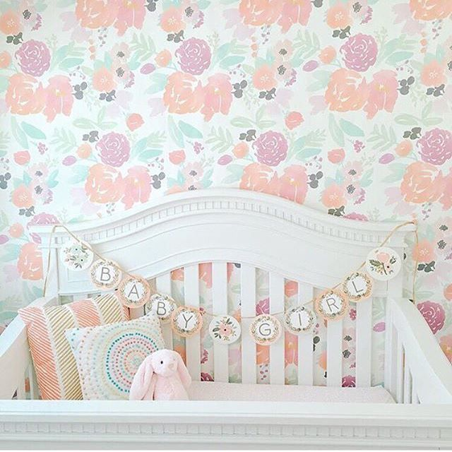 Holy floral nursery! This nursery is ready and waiting for you, baby girl.  via @evolurbaby + @mckelle -