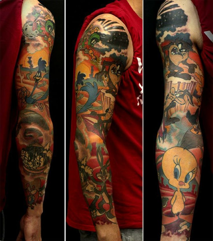 Tomasz Bujacz, CLEANFUN, Poland. #Tattoo #sleeve #colortattoo #tatuaż #rękaw #sztuka