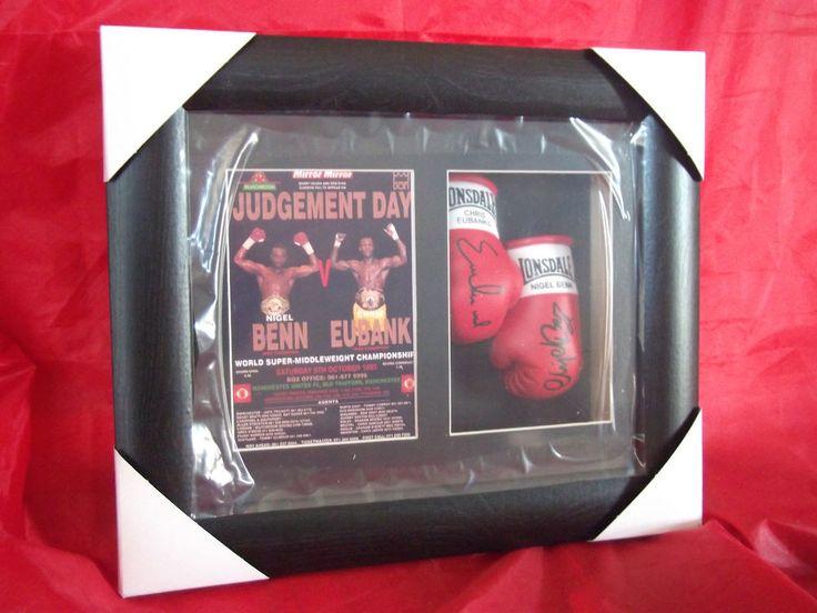 Nigel Benn vs Chris Eubank Mini Signed Framed Boxing Gloves Judgement Day   eBay