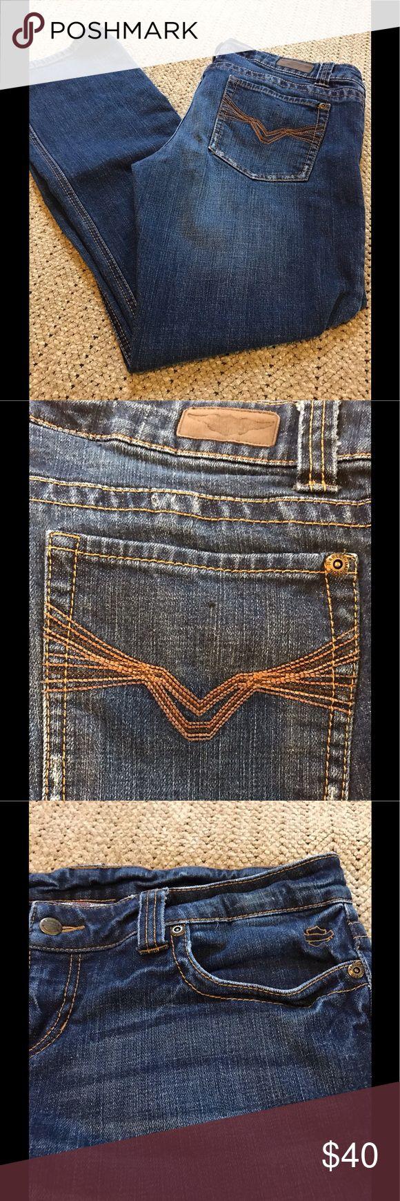 HARLEY DAVIDSON JEANS Size 14 Regular Harley-Davidson Jeans Boot Cut