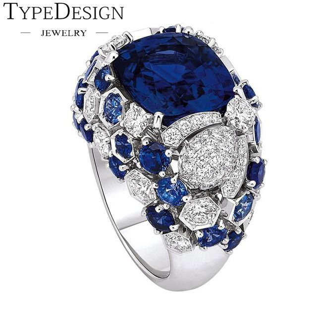 Size 6-10 Engagement Brides Women Wedding Inlay Rings Crystal Gold Color Zircon