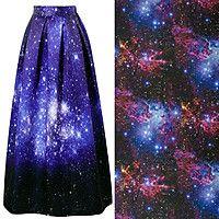 """Длинная юбка """"Галактика"""""""