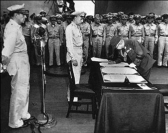 Japan surrenders, ending World War II #1945