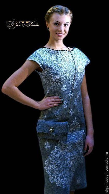 Купить или заказать Авторская ручная работа Валяное платье Нега. в интернет-магазине на Ярмарке Мастеров. Авторская ручная работа. Валяное платье 'Нега'. Невероятно мягкое и нежное платье, выполнено из материалов экстра-класса, изюминкой это работы является великолепное кружево 18-века, которое предает ей особый шарм. Платье создано для того, что бы Вы испытывали блаженство, и от тактильных ощущений, и от восхищенных взглядов. Повтор не возможен. Здесь можно посмотреть видео с этой ра...