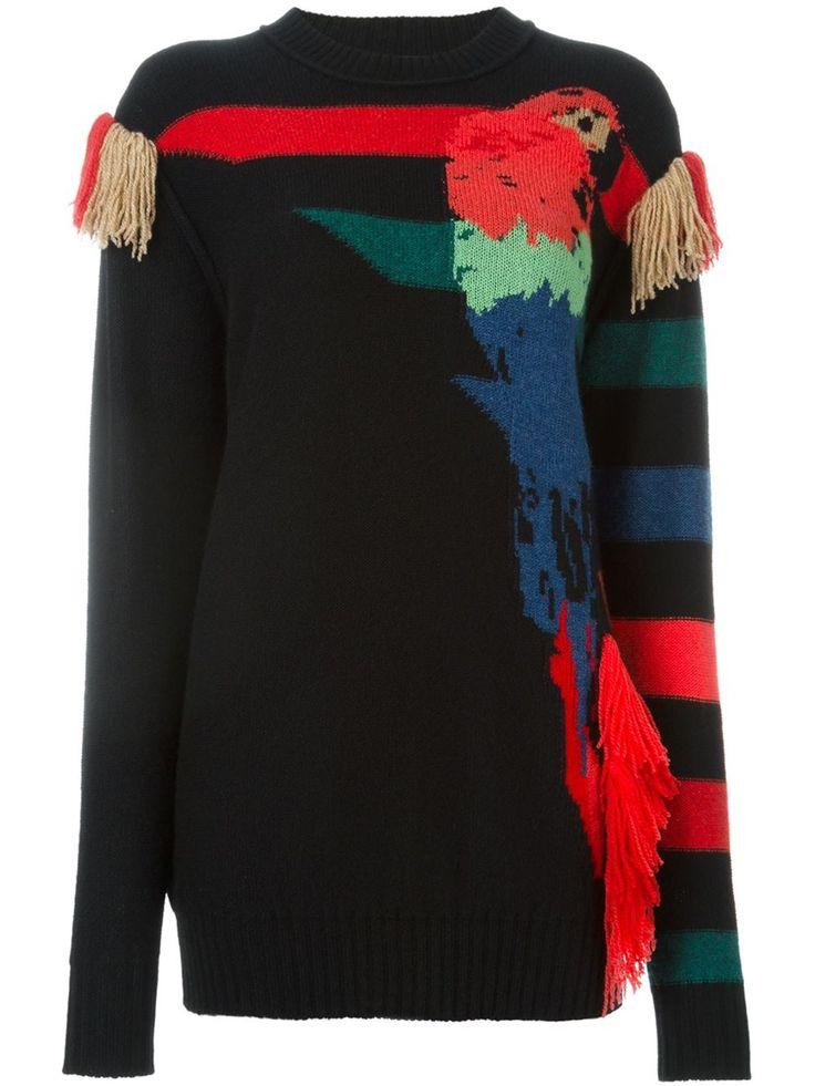 Sonia Rykiel Parrot Intarsia Sweater - Vitkac - Farfetch.com