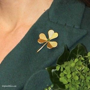 Cartier Gold Shamrock Brooch Di And Kate S Jewels