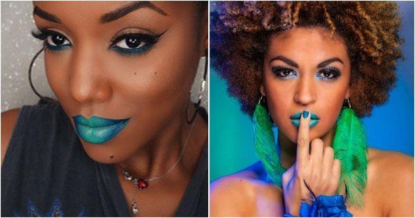 rouge-a-levres-vert-green-lipstick-black-girl