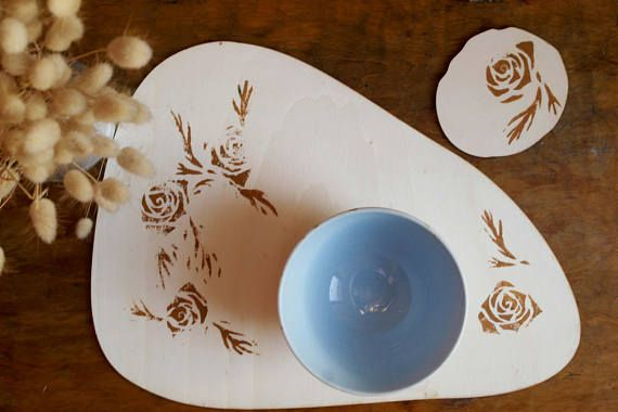 placemat & coaster Setvintage placemat hostess gift table