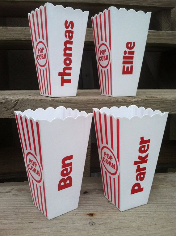Personalized Popcorn Cups / Containers by TooCutePersonalized, $4.00