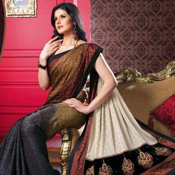 Ravishing Black Jacquard Saree with Blouse