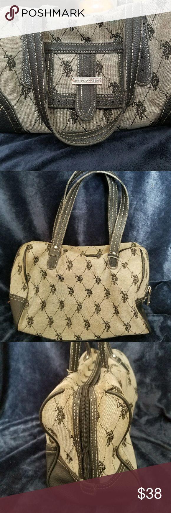 U.S. Polo Assn handbag Grey and Black U.S Polo Assn Bag U.S. Polo Assn. Bags Satchels