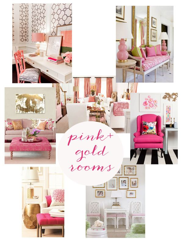 pink and gold rooms home inspiration {pink + gold}