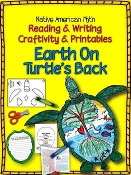 Earth Day! Native American Myth: Earth on Turtle's Back Craftivity and printables ($)