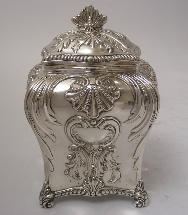 Victorian Antique Silver tea caddy