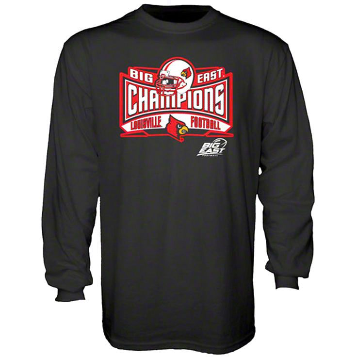 Louisville Cardinals 2012 Big East Conference Football Champions Lobbed Long Sleeve T-Shirt - $19.94