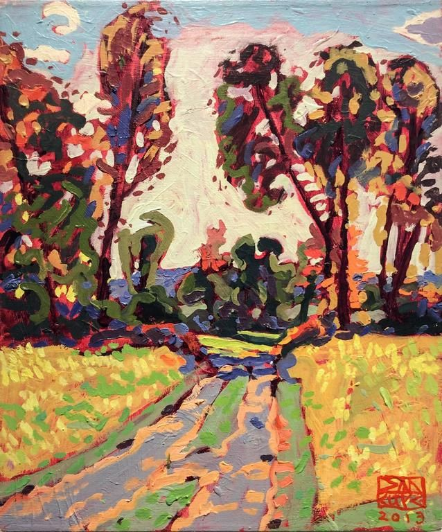 Dan Rupe Road Home Modern Fauvist Style Abstract Landscape Oil Painting On Linen Painting Oil Painting Landscape Abstract Landscape Painting