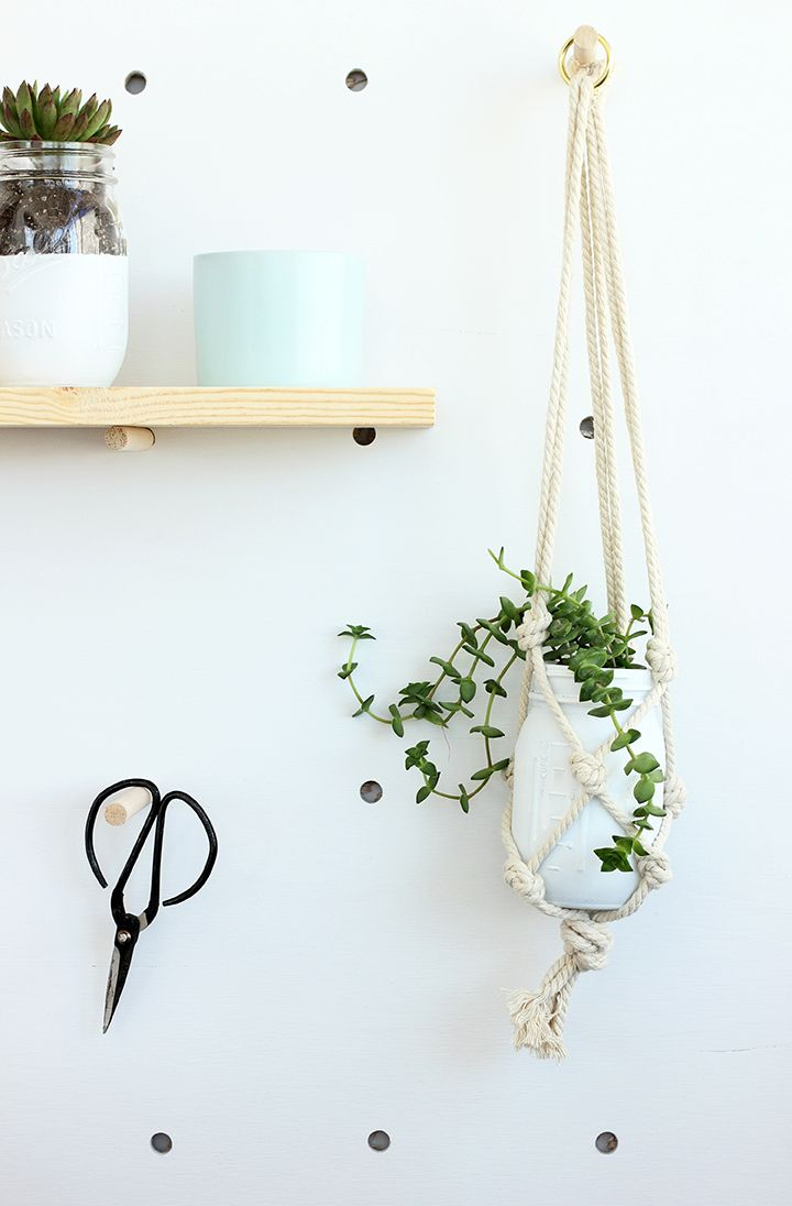 Try your hand at a simple macrame technique with our DIY Easy Macrame Plant Hanger project! Learn how to use knots to hang your favorite plants in jars.
