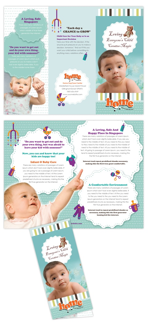 17 best images about brochure on pinterest baby for Child care brochure template free