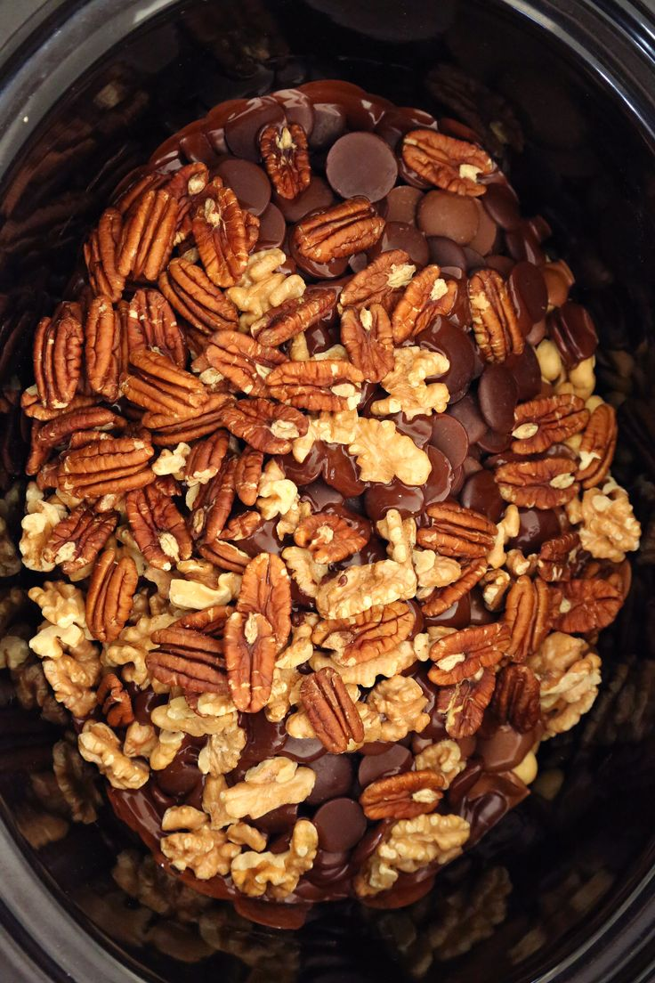The dessert you never knew your Crockpot could make: chocolate-nut clusters