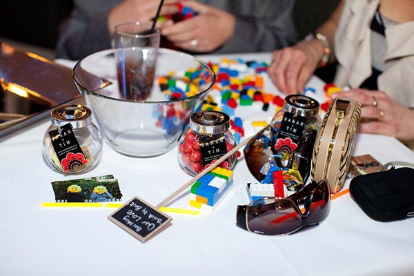 No Lego-themed wedding is complete without a place where guests can actually build something.