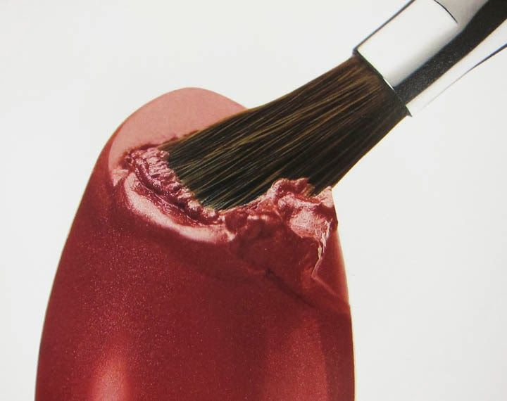 Lipstick & Brush, advertising photograph for Clinique, New York, May 8 1996