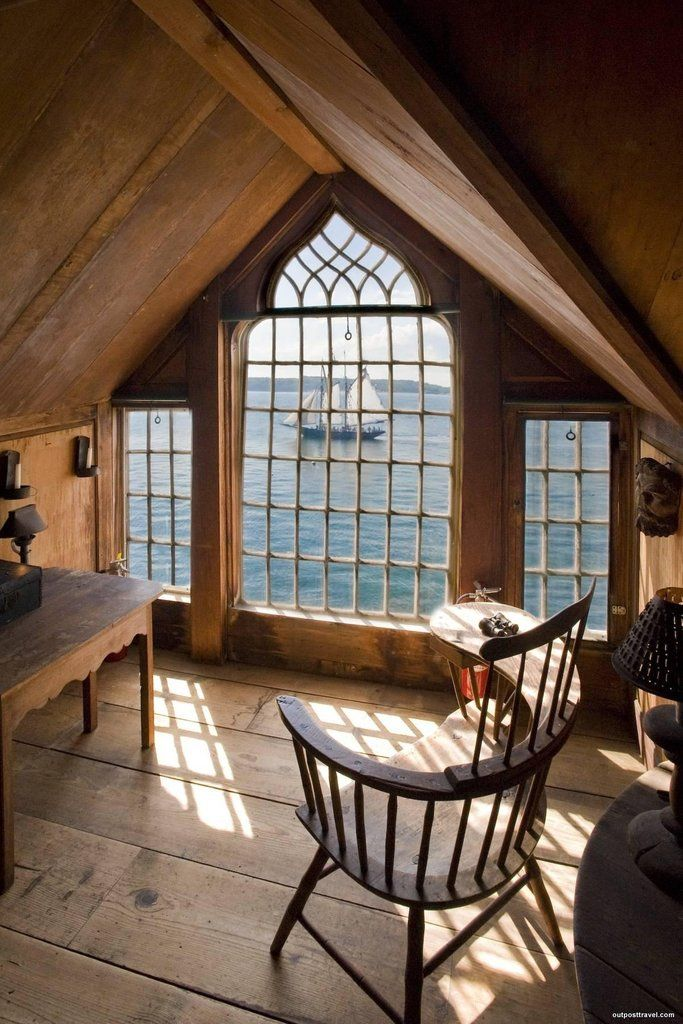 Beautiful attic room with Cape Cod view. [1200 × 1800]