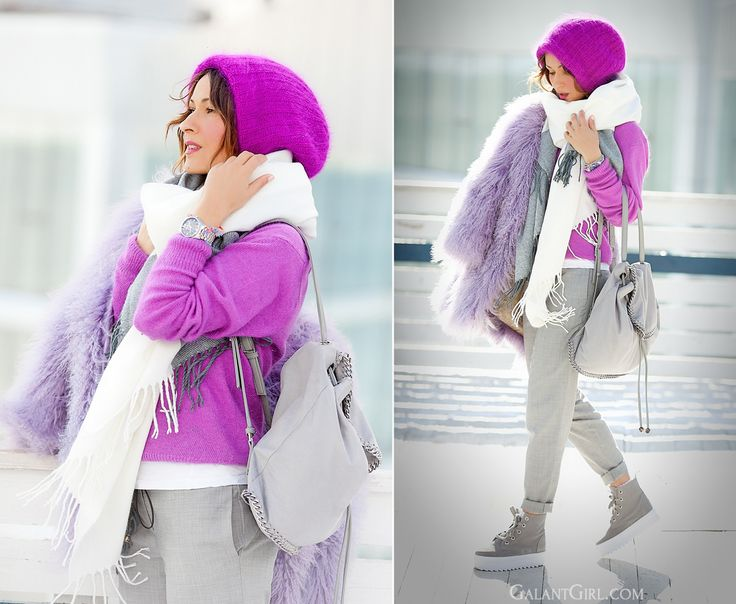 stella mccartney falabella backpack, GalantGirl.com, Galant girl, ellena galant, fuchsia outfit,