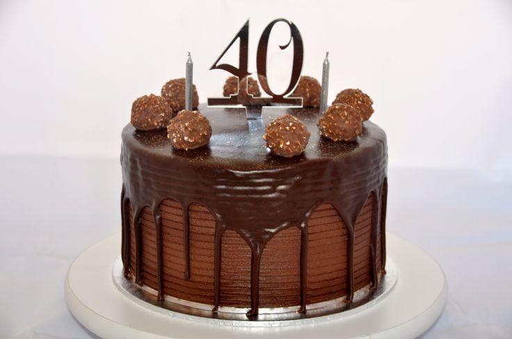 40th Birthday Cake #Chocolate #FerreroRocher